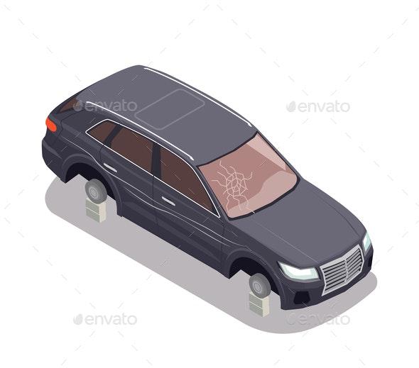 Transport Isometric Composition - Miscellaneous Vectors
