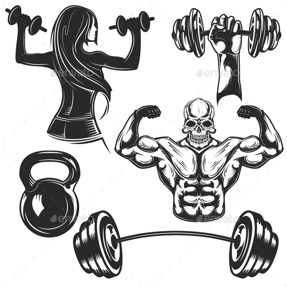 Set of Gym Elements - Miscellaneous Vectors
