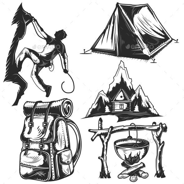 Set of Camping Elements - Miscellaneous Vectors