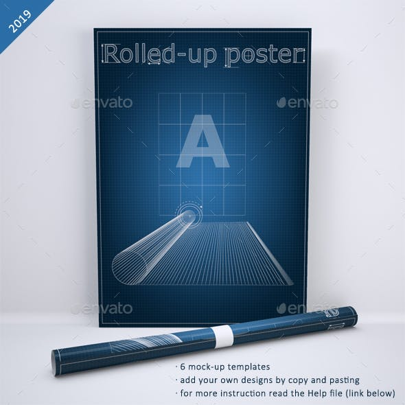 Rolled-Up Poster Mock-Up
