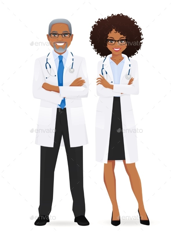 Male and Female Doctor - Miscellaneous Vectors
