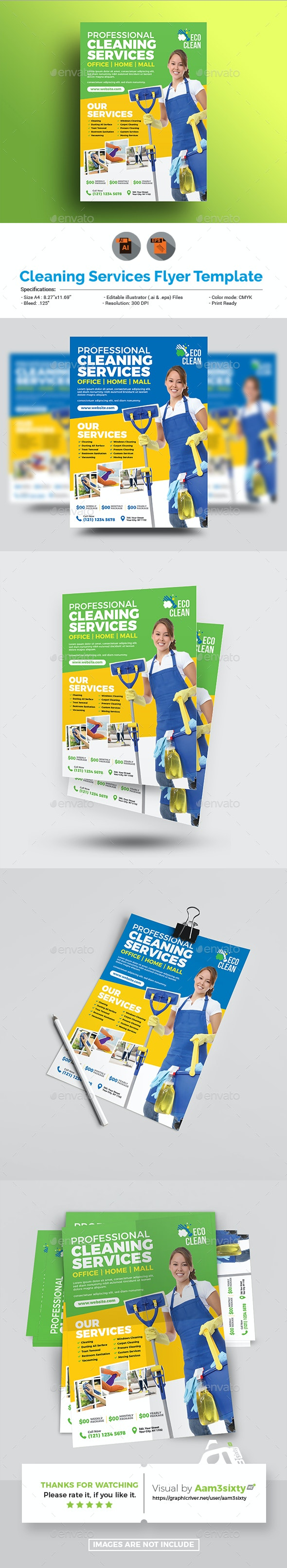 Cleaning Services Flyer Template - Corporate Flyers