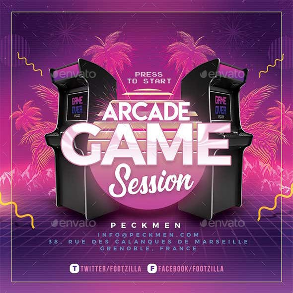 Arcade Game Flyer