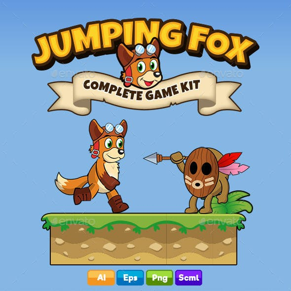 Jumping Fox - Complete Platformer Game Kit