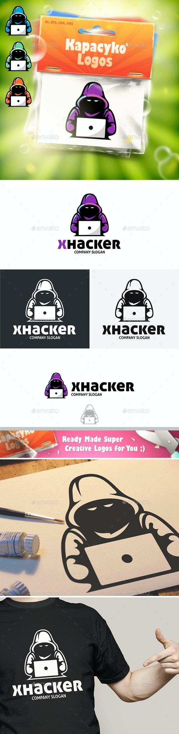 X Hacker Logo - Humans Logo Templates