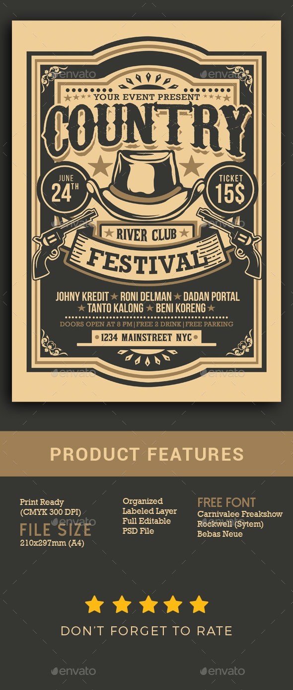 Country Music Festival - Events Flyers