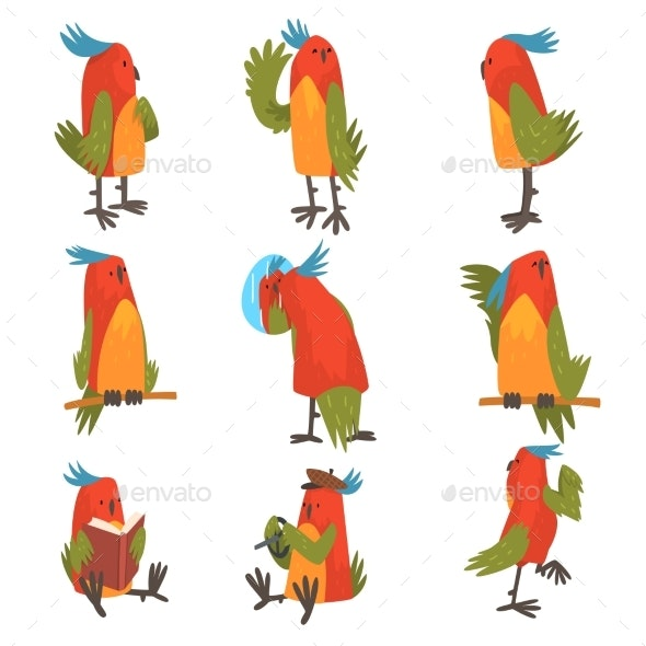 Bird Cartoon Character - Animals Characters