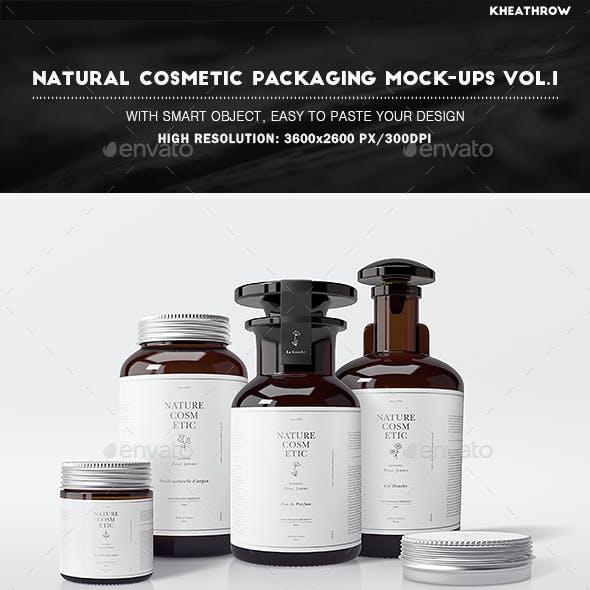 Natural Cosmetic Packaging Mock-Ups Vol.1