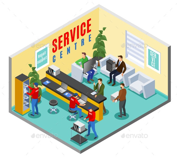 Support Service Centre Composition - Services Commercial / Shopping