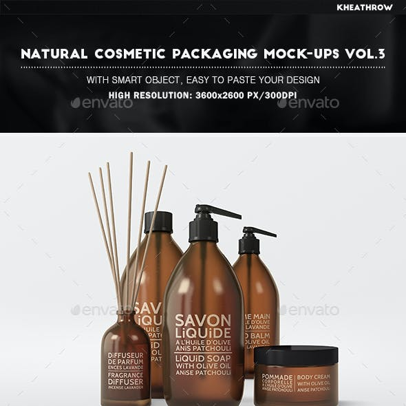 Natural Cosmetic Packaging Mock-Ups Vol.3