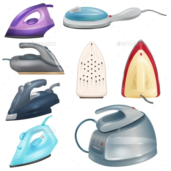 Iron Vector Ironing Electric Household Appliance - Man-made Objects Objects