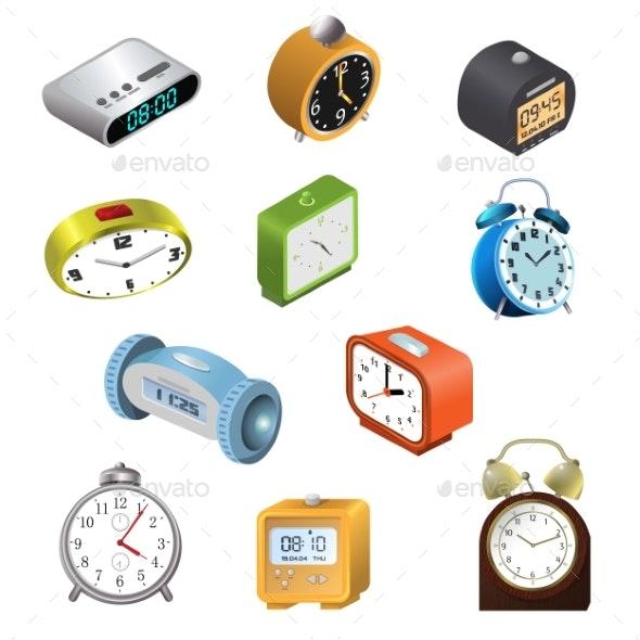 Alarm Clock Vectors - Miscellaneous Vectors