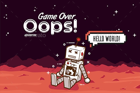 Creative Game Over 404 Error Page - Web Technology
