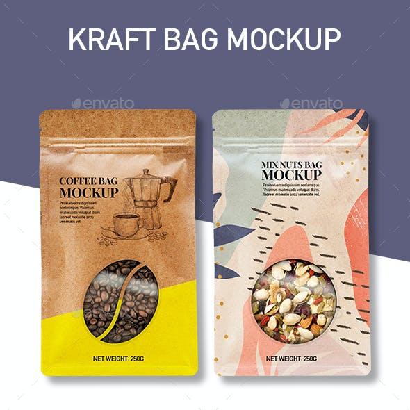 Kraft Doy Bag Packaging Mockup