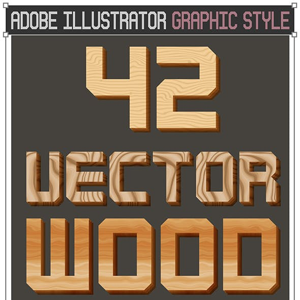 42 Vector Wood Graphic Styles