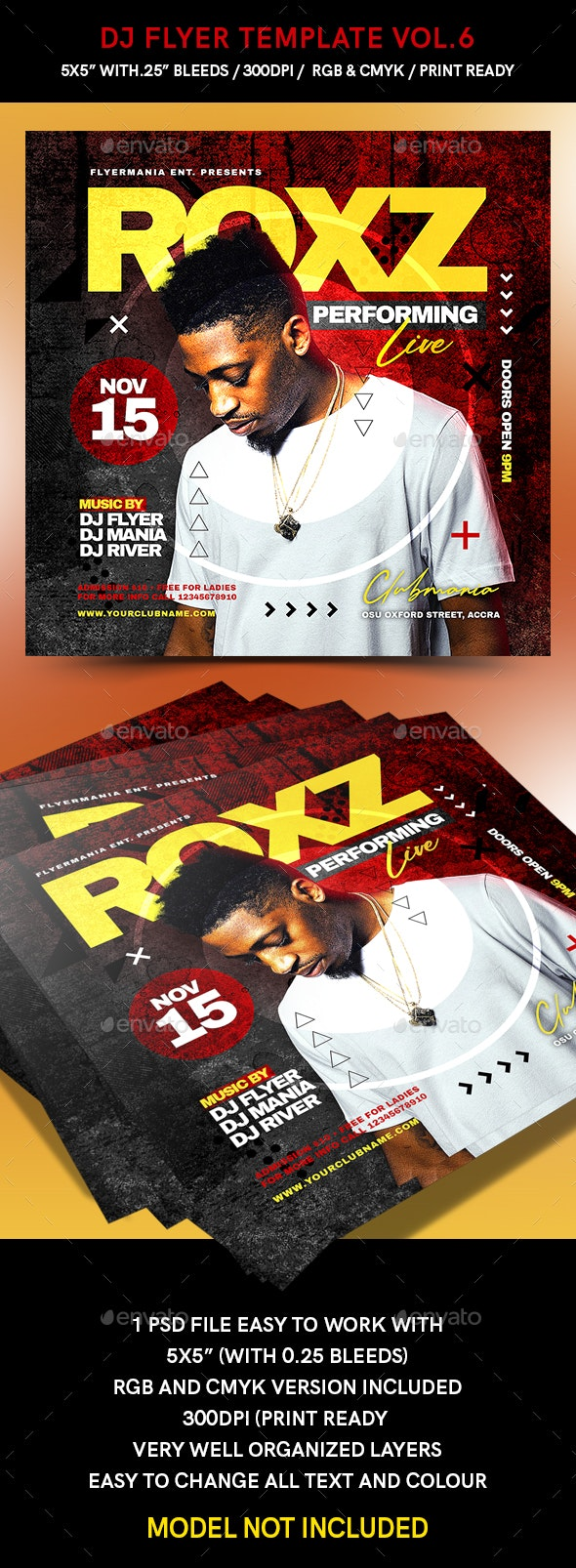 Dj Flyer Template Vol.6 - Events Flyers