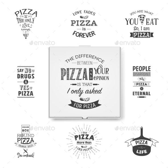 Vector Realistic Blank White Pizza Box Template - Miscellaneous Vectors