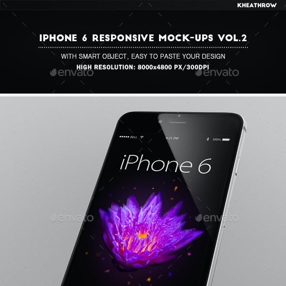 IPhone 6 Responsive Mock-Ups Vol.2