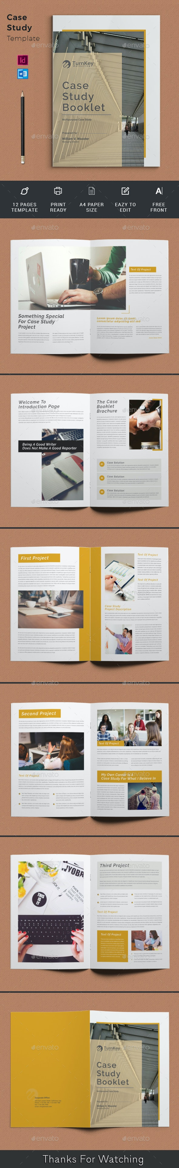 Case Study Booklet - Newsletters Print Templates