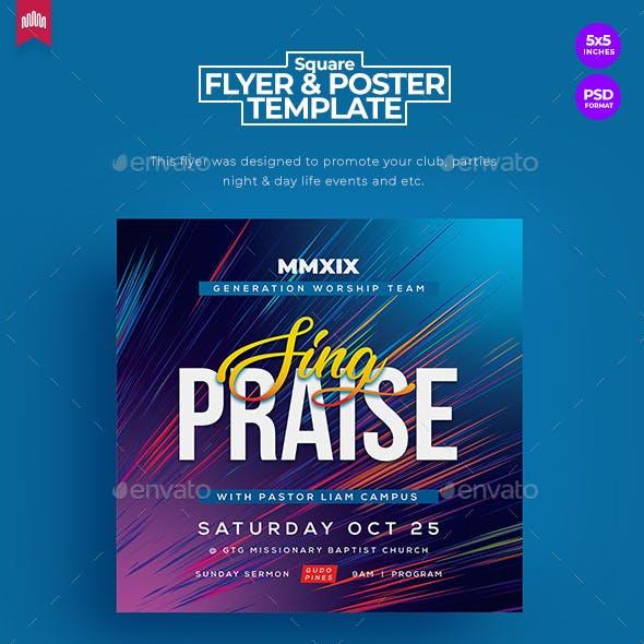 Sing Praise - Square Church Flyer