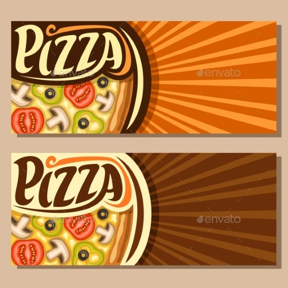 Vector Banners for Pizza - Food Objects