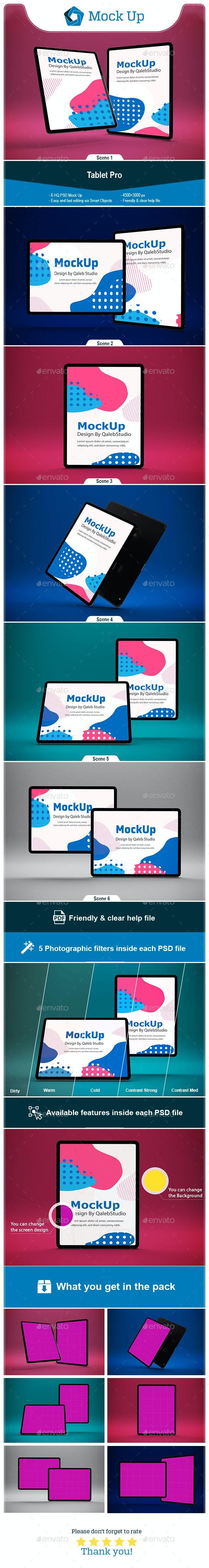 Tablet Pro Mockup - Mobile Displays