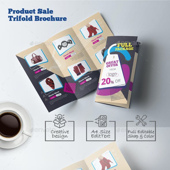 Product Catalog Trifold Brochure