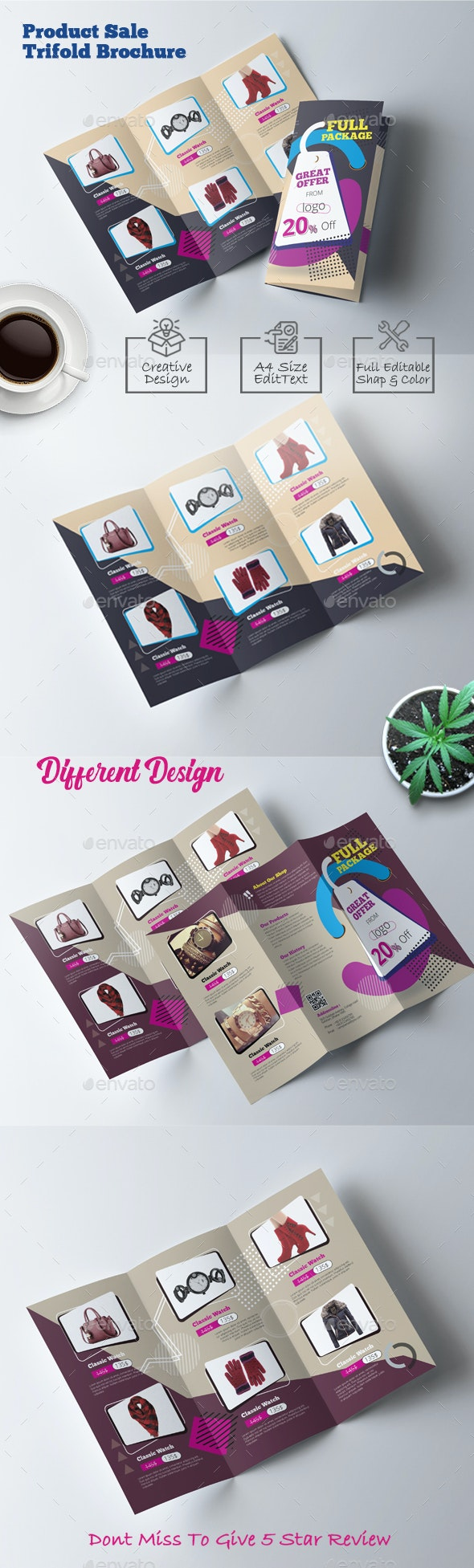 Product Catalog Trifold Brochure - Brochures Print Templates