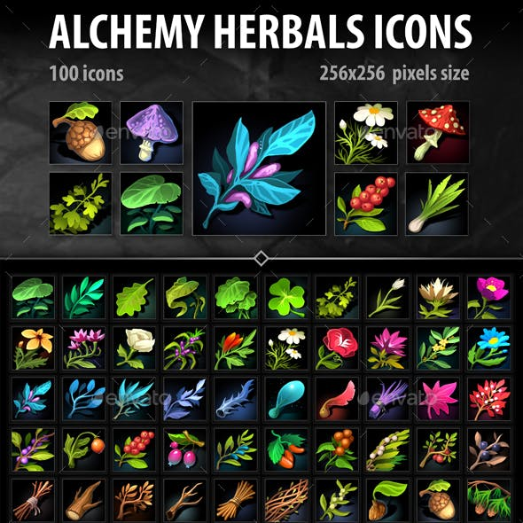 Alchemy Herbs Icons