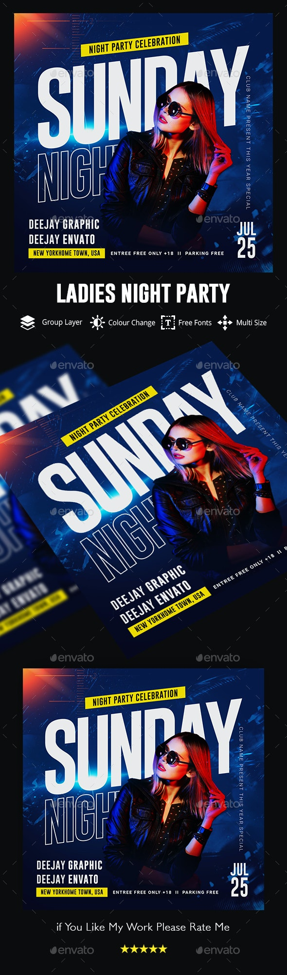 Ladies Night Flyer Template - Events Flyers