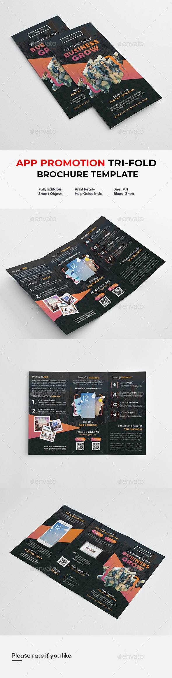 App Promotion Trifold Brochure - Informational Brochures