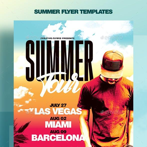 Summer Festivals - PSD Flyer Templates