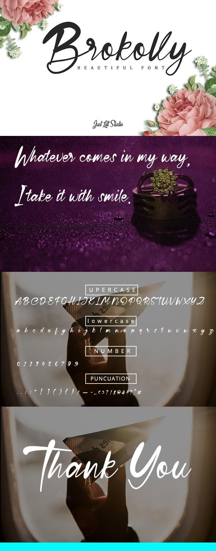 Brokolly - Handwriting Fonts