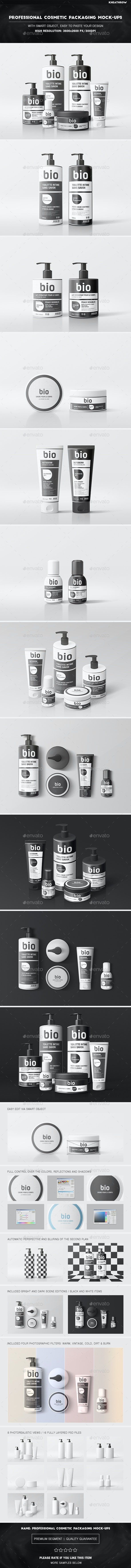 Professional Cosmetic Packaging Mock-Ups - Beauty Packaging