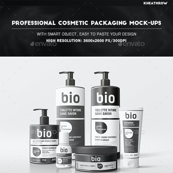 Professional Cosmetic Packaging Mock-Ups