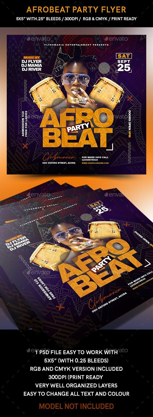 Afrobeat Party Flyer - Flyers Print Templates