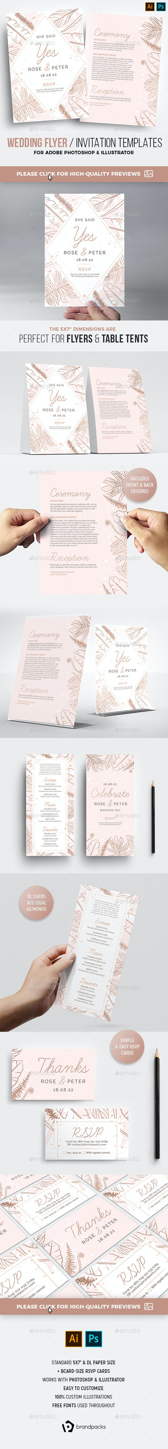 Wedding Flyer / Invite - Weddings Cards & Invites
