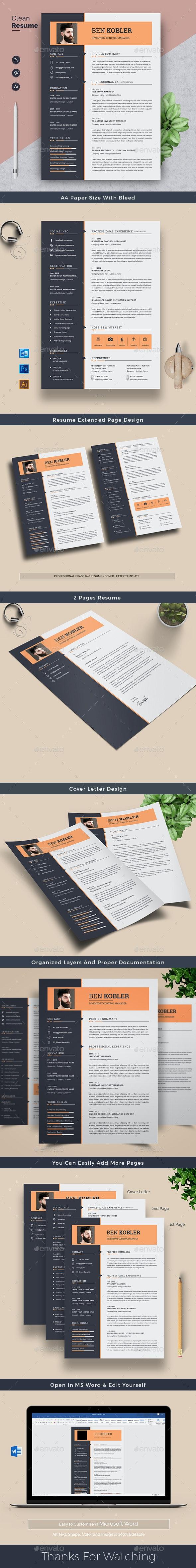 CV Resume Word - Resumes Stationery