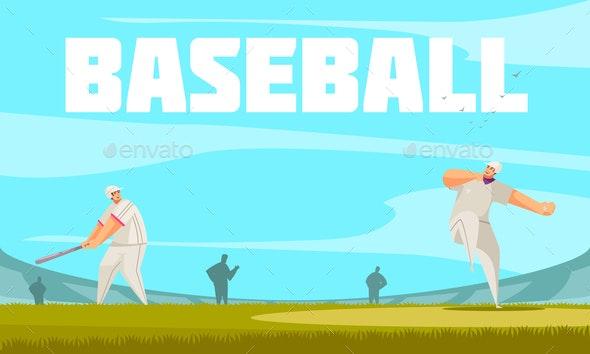Baseball Summer Sport Composition - Sports/Activity Conceptual