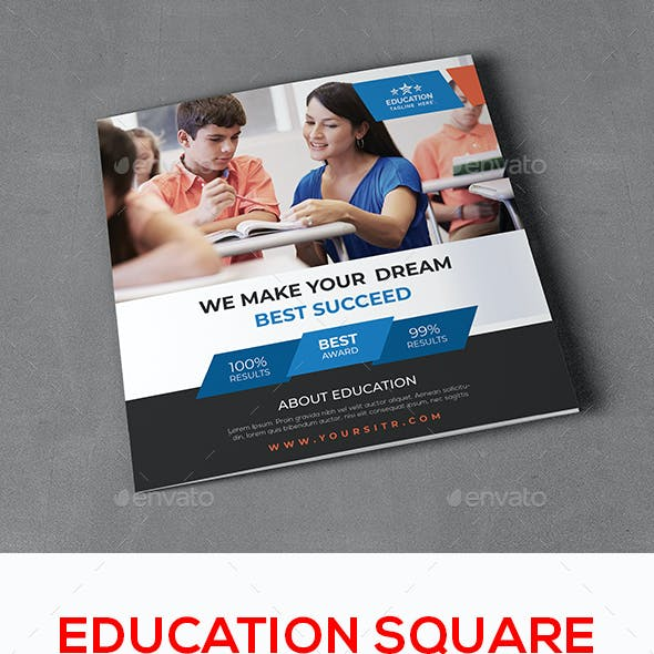 Education Square Trifold Prospectus Brochure