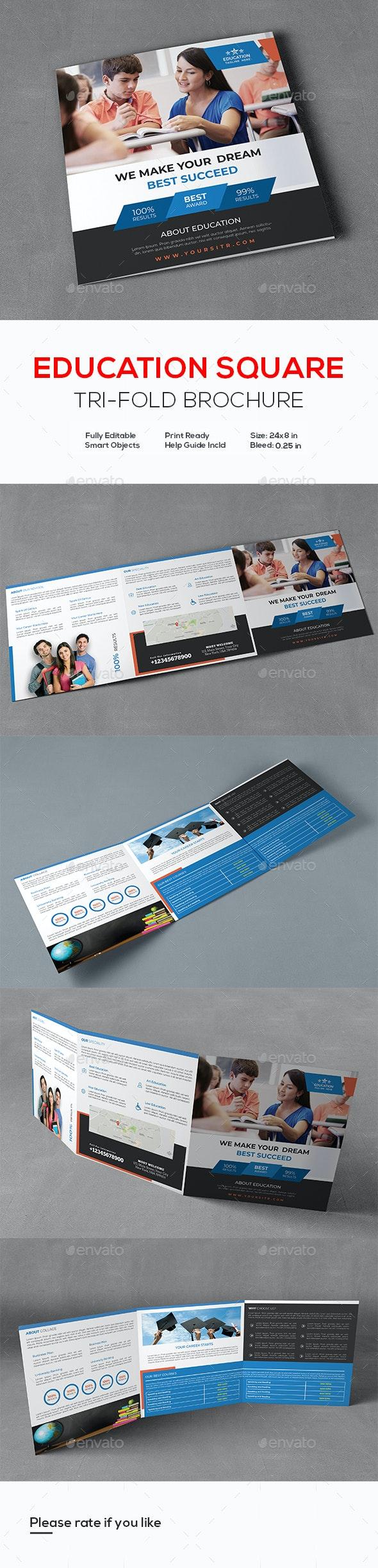 Education Square Trifold Prospectus Brochure - Corporate Brochures