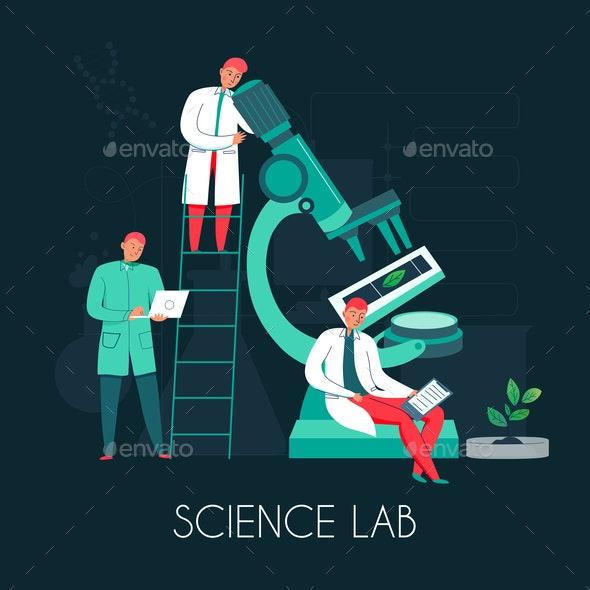 Science Lab People Composition - Health/Medicine Conceptual