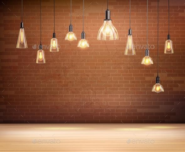 Light Bulbs Background - Miscellaneous Vectors