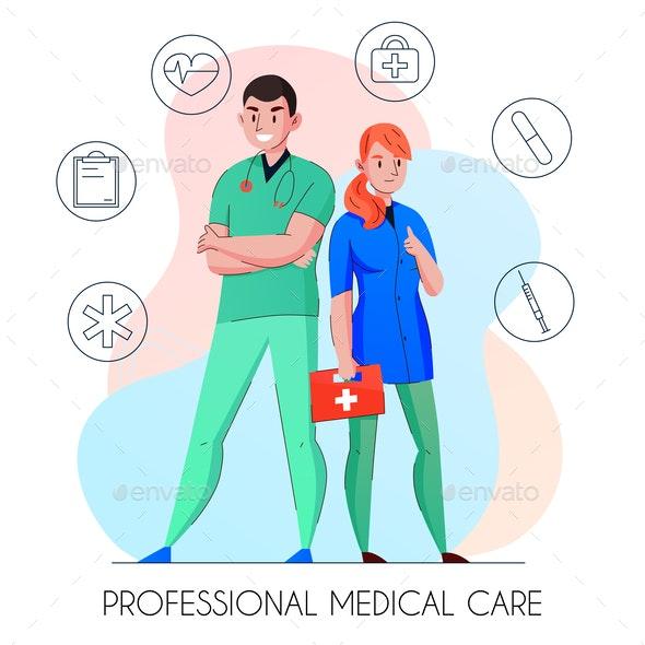 Medical Care Personnel Composition - Health/Medicine Conceptual