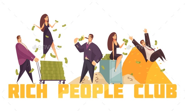 Rich People Horizontal Composition - Concepts Business