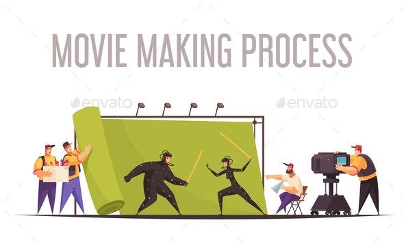 Cinema Movie Crew Composition - Industries Business
