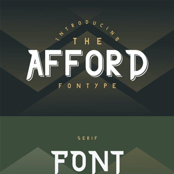 The Afford Serif