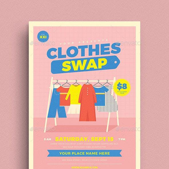 Clothes Swap Event Flyer