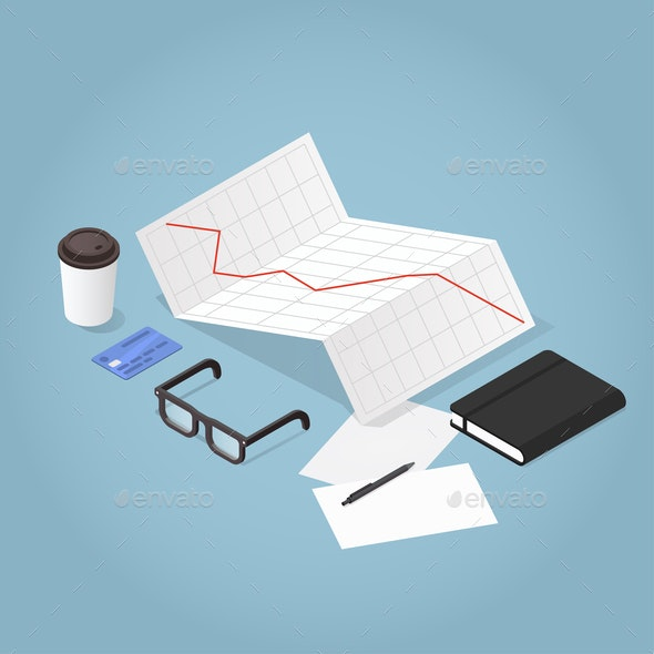 Isometric Business Concept Illustration - Concepts Business