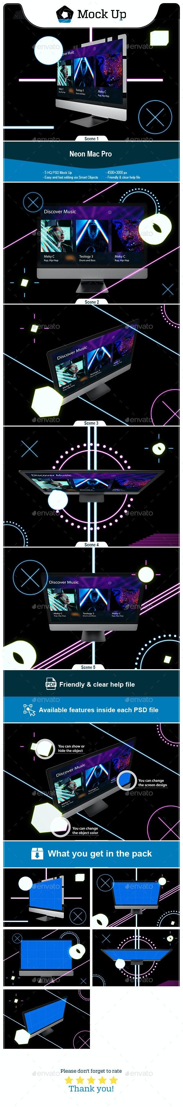 Neon Mac Pro - Monitors Displays